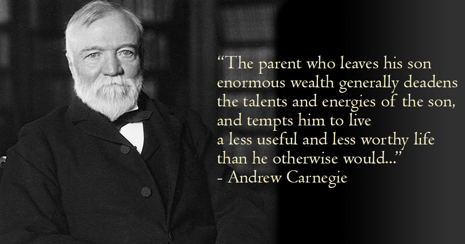 Carnegie Conjecture on Intergenerational Transition of Family Wealth