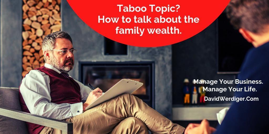 Talking about wealth by David Werdiger