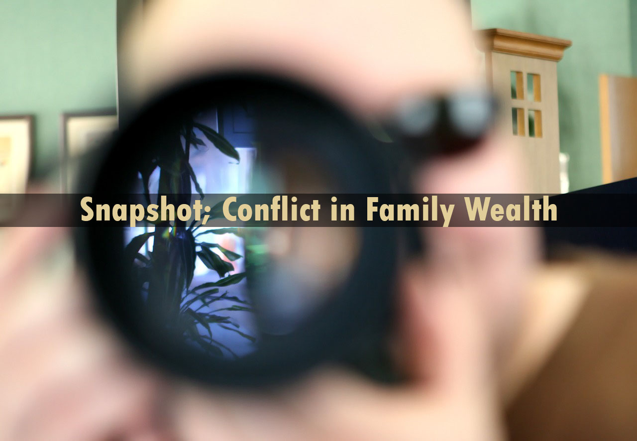 Snapshot conflict in family wealth